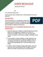 Consumer Behavior Basics