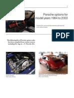Porsche Options