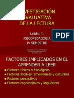 Factores Implicados en La Lectura 1