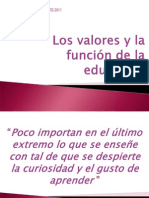 Los Valores y La Funcion