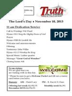 sunday bulletin 11-10
