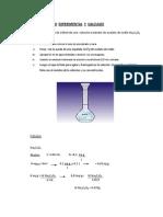 Preparación de 100ml de una  solución estándar de oxalato de sodio Na2C2O4