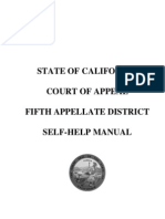 California Court of Appeal 5th Appellate District Self-help Manual 118 Pages