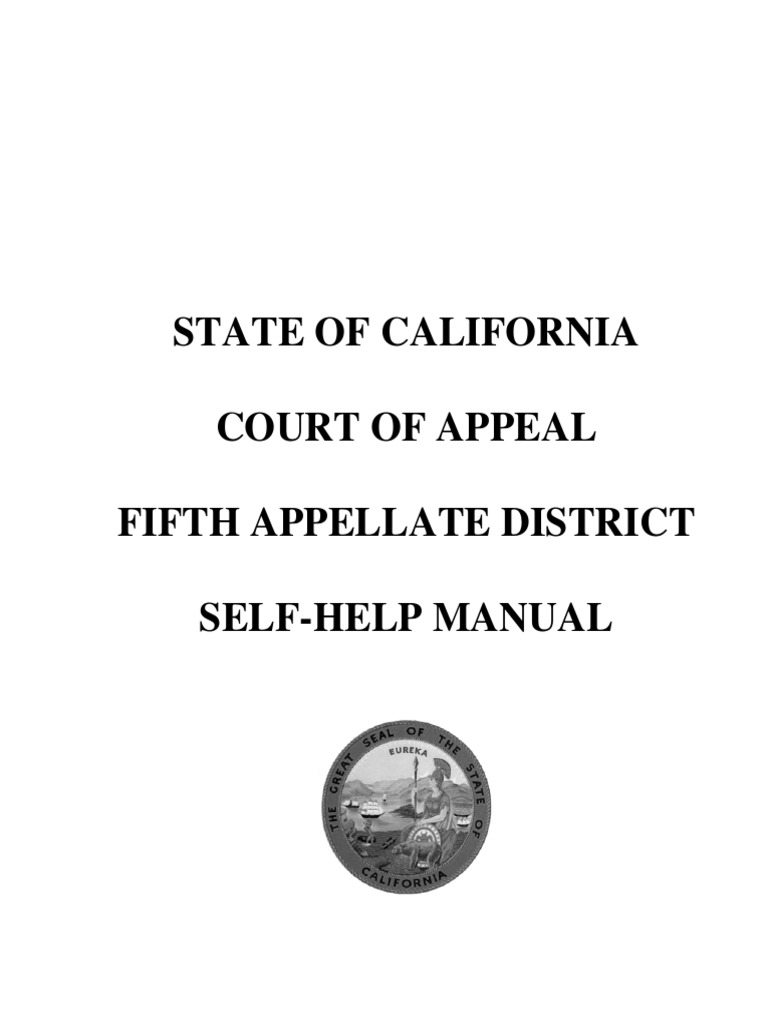 California Court of Appeal 5th Appellate District Self