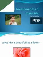 The Awesomeness of Joyce Ahn