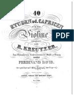 Kreutzer - 40 Etudes or Caprices for Violin David