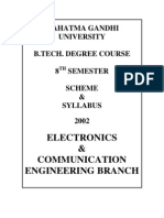 mg university b tech 8th semester syllabus