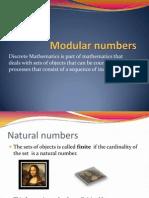 Week 7 Modular Numbers