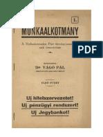 Dr. Vágó Pál - Munkaalkotmány