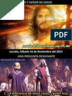Lección 20 - Hijo y Señor de David