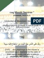 Masail of Hajj-Shia Seminar