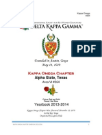 2 kappa omega chapter yearbook 2013-2014