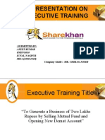 Final Presentation on Sharekhan