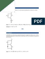 Ejercicios Transistor