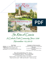 St. Rita Parish Bulletin 11/10/2013