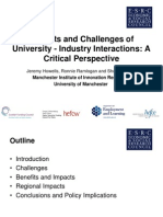 Benefits and Challenges of University - Industry Interactions