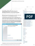 Installing SharePoint 2013 on Windows Server 2012 R2 Preview _ Aviv Roth