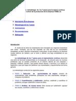Implantación de  la  metodología  de  los 7 pasos para la mejora continua =