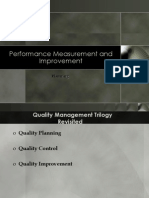 Planning for Performance Improvement