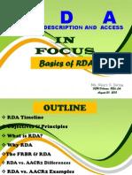 Rda in Focus-basics of Rda