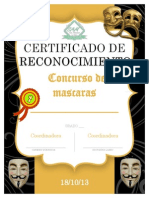 Certificado Mascara