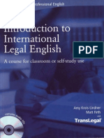 Introduction to International Legal English