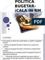 Politica Bugetar Fiscala in RM