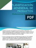 PLANIFICACIÒN GENERERAL DE PRODUCTOS
