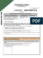 ITEM 31 S   -   COMPONENTE MATEMATICA-SEPARATA Nº 05    -  GRUPO A