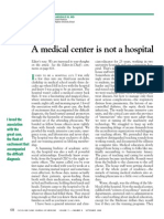 A Medical Center is Not a Hospital Editorial CCJM 2008