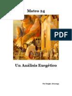 Mateo 24 Un Analisis Exegetico