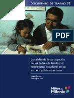 Maria Balarin, Santiago Cueto - Participacion de Los Padres en El Rendimiento Estudiantil - Documentos de Trabajo 35