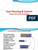 Cost Planning & Control