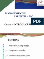 MC Curs 1 Calitate