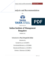 Strategic Analysis and Recommendation for TATA Steel
