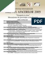 Programul Conferintei Dreptul Afacerilor 2009