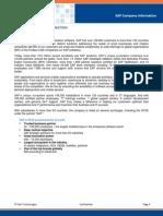 SAP Company Information