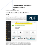 Uninstall Avast Free Antivirus 2014 From Computers Completely