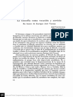 Vasconcelos, José- La filosofía como vocación y servicio