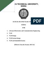 VLSI M.Tech Syllabus