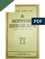 Felpétzi György Jenő - A soproni zsidókapu