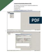 Procedure to Download DPU Software