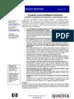 Creating a print intelligent enterprise