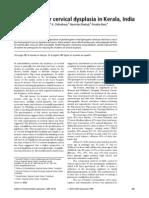 Risk Factors for Cervical Dysplasia in Kerala India