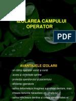 Izolarea Cimpului Operator