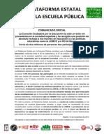 Comunicado Plataforma Resultado Consulta