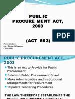 Public Procurement Act (PPA)