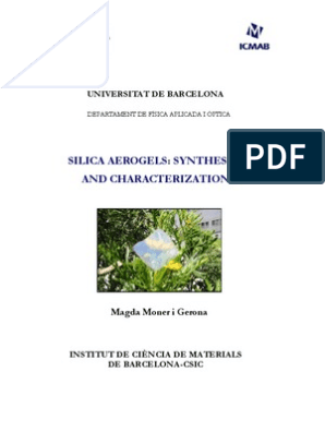 phD Thesis Aerogels-M Moner | Colloid | Gel