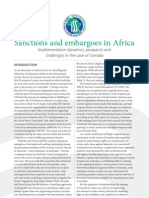 Sanctions and embargoes in Africa:Implementation dynamics, prospects and  challenges in Somalia