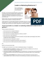 Lionel-cavallo.com-Peuton Devenir Un Leader en Marketing Relationnel